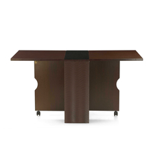 Gypsy 4 Seater Foldable Dining Table - @home by Nilkamal, Dark Walnut