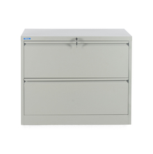 Nilkamal Retro 2 Drawer Filing Cabinet, Grey