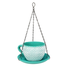 Cup Saucer Hanging Planter - @home by Nilkamal, Sea Green
