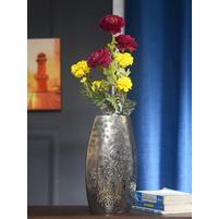 Hellen 37 x 21 cm Metal Vase - @home by Nilkamal, Silver