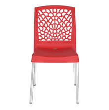 Nilkamal Novella 19 Stainless Steel Chair, Bright Red