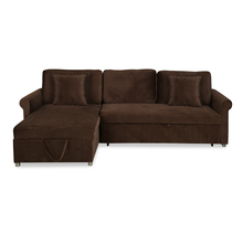 Sanders 3 Seater Sofa cum Bed - @home by Nilkamal, Honey Brown