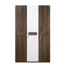Nilkamal Lodgy 3 Door Wardrobe, Brown