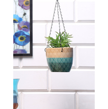 Hanging Leafy Planter, Emerald Green