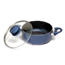 Bergner Diamanti 20 cm Casserole with Lid, Blue
