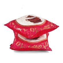 Eden Sagar 40 x 40 cm Set of 2 Cushion Cover - @home by Nilkamal, Fushcia