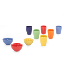 Bergner Stone Mug & Bowl Set of 9 - Multi Color Giftset