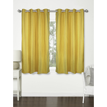 Moshi 112 cm x 152 cm Window Curtain Set of 2 - @home by Nilkamal, Yellow