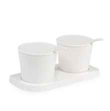 Condiment Set - @home by Nilkamal, White