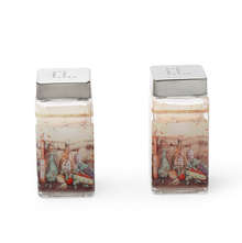 Glass Salt & Pepper Square Set - @home by Nilkamal, Multicolor