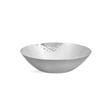 Hammered Stainless Steel Small Round Snack Bowl, Silver