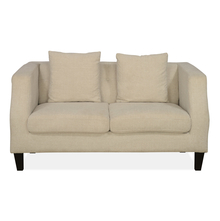 Eugene 2 Seater Sofa With Pillow, Charcoal