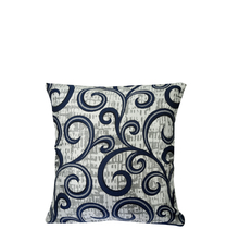 Scroll 40 cm x 40 cm Cushion Cover Set of 2 - @home by Nilkamal, Indigo