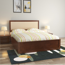 Marmarox Queen Bed with Storage, Tobacco