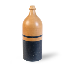 Large Wooden Vase - @home by Nilkamal, Black Wax