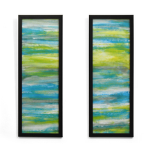 Waves Set of 2 Painting - @home by Nilkamal, Seagreen