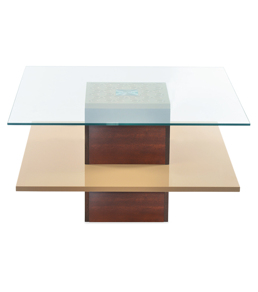 Rhames Center Table- @home By Nilkamal, Beige & Walnut