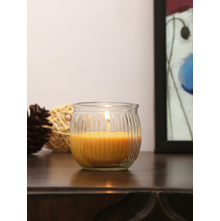 Indian Essence Swirl Cup Candle, Yellow