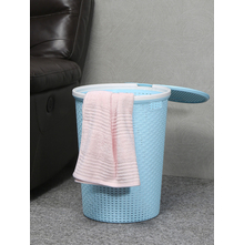 40 litre Laundry Basket with Lid, Sea Green