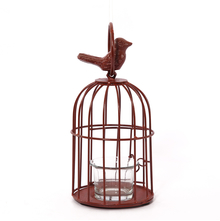 Free Bird Cage Votive Holder - @home by Nilkamal, Maroon