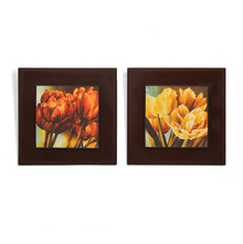 Floral Embossed Set of 2 Painting - @home by Nilkamal, Maroon