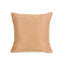 Dobby Checks 30 cm x 30 cm Set of 2 Cushion Covers, Red