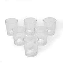 Cresa Dof Tumbler Set of 6 - @home by Nilkamal, Clear
