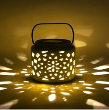 Solar 11 cm x 11 cm x 14 cm Lantern - @home by Nilkamal, Yellow