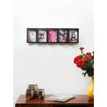 5 Table or Wall Abstract 58 cm x 18 cm x 5 cm Photo Frame - @home by Nilkamal, Black