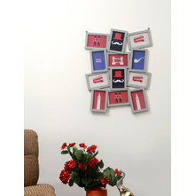 12 Cluster Collage Photo Frame - @home by Nilkamal, Grey