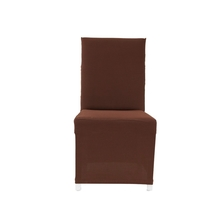 Solid Knit Chair Cover, Brown