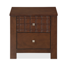 Rivera Night Stand - @home by Nilkamal, Dark Walnut