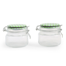 Fido 600 ml Jar with Metal Clip Set of 2 - @home by Nilkamal