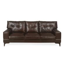 Savio 3 Seater Sofa, Chestnut