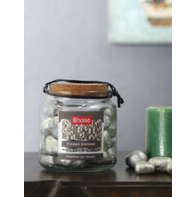 Big Stone Pebbles Jar, Silver