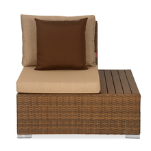 Rover 1 Seater Garden Sofa with Left Arm - @home by Nilkamal, Tan Brown