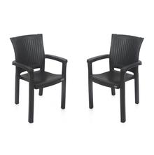 Nilkamal Platinum Siesta Chair - Set of 2, Charcoal Grey