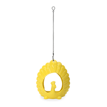 Hanging Peacock Lantern 17 cm x 19 cm - @home by Nilkamal, Yellow