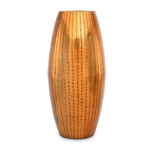 Ethopian Large Metal Vase - @home by Nilkamal, Gold