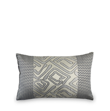 Geo 30 cm x 45 cm Filled Cushion - @home by Nilkamal, Indigo