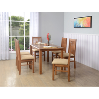 Roosey 6 Seater Dining Kit, Natual Walnut