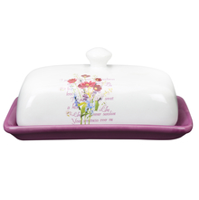 Ceramic Butter Dish - @home by Nilkamal, Purple