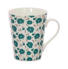 Aroha Floral Coffee Mug - @home by Nilkamal, Sea Green