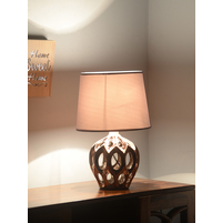 Regal Glaze 30X30X41CM Medium Table Lamp, Gold