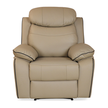 Barbados 1 Seater Sofa with 1 Manual Recliner - @home by Nilkamal, Sand Beige