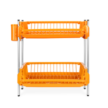 Double Dish Drainer Set - @home by Nilkamal, Orange