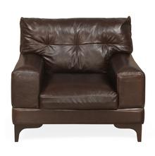 Savio 1 Seater Sofa, Chestnut
