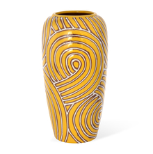 Urban Bud Vase - @home by Nilkamal, Yellow & Brown