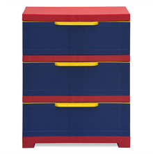 Nilkamal PP Chester Storage Drawer Series 13, Pepsi Blue, Red & Yellow