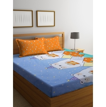 Polar Bear 230 cm x 250 cm Double Bedsheet, Orange